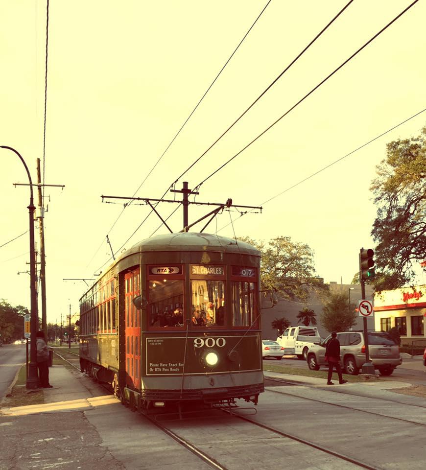 avant de partir : Cable Car New Orleans