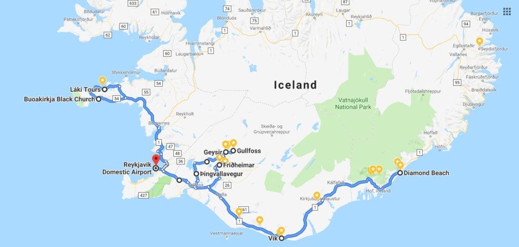 itineraire islande